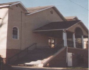Color photo of church